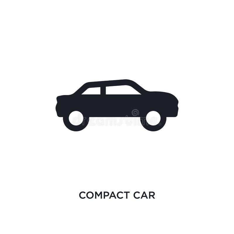 czarna ścisłego samochodu odosobniona wektorowa ikona prosta element ilustracja od transportu poj?cia wektoru ikon ścisły samochó ilustracja wektor