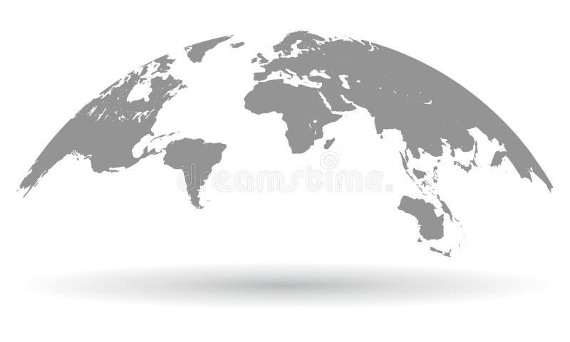 Czarna światowej mapy kula ziemska odizolowywająca - wektor royalty ilustracja