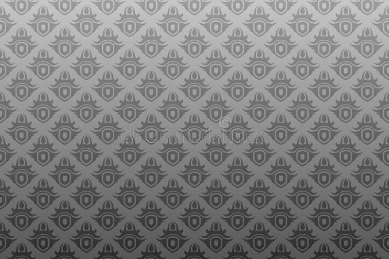 czarna antykwarska szara bezszwowa tapeta ilustracji