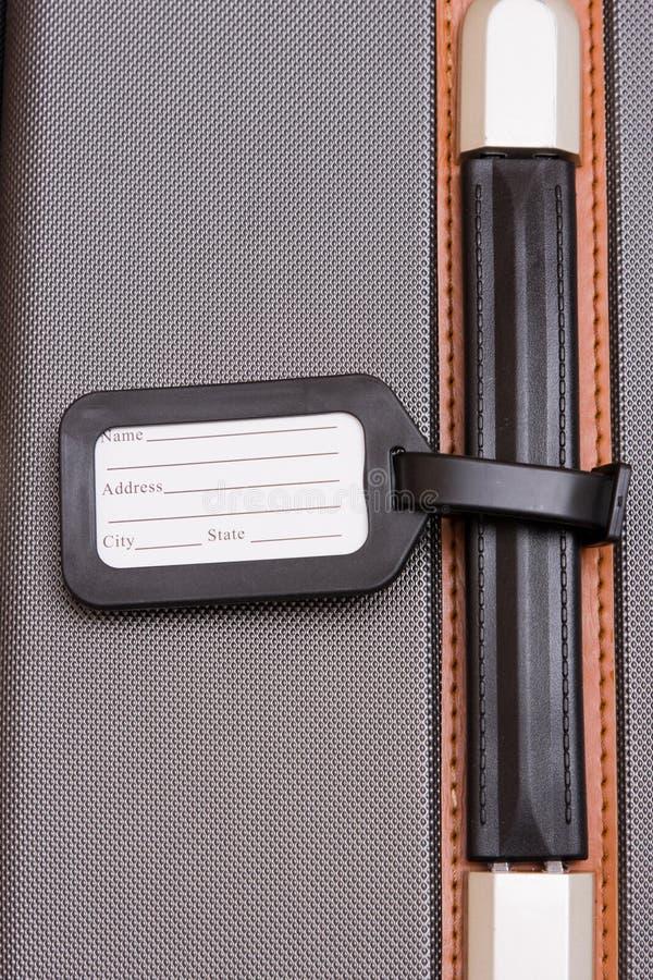 czarna bagażowa bagaż etykiety obraz royalty free