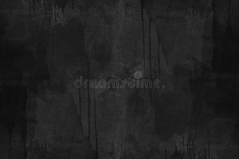 Czarna betonowa tekstura z brudnym malującym abstrakcyjny tło zdjęcie royalty free