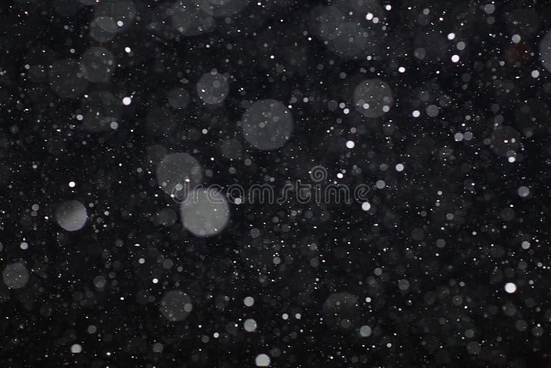 Czarna biała śnieżna tekstura obraz royalty free