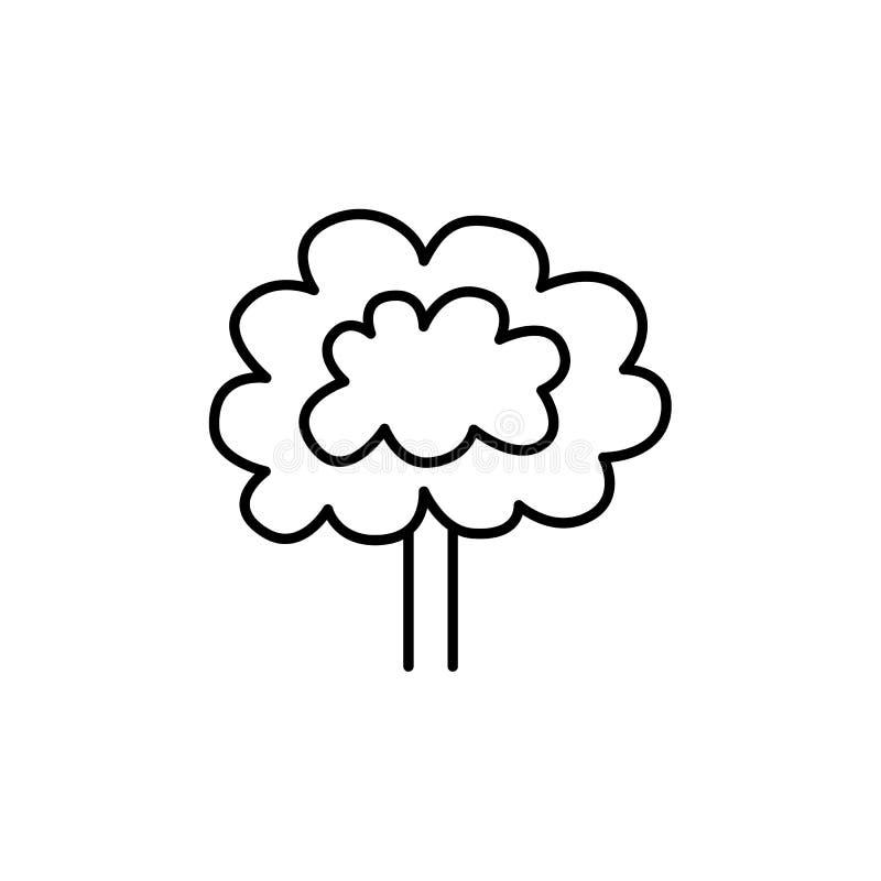 Czarna & biała wektorowa ilustracja dekoracyjny drzewo dla backyar ilustracji