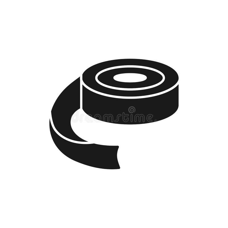 Czarna & biała wektorowa ilustracja projektować papierowej taśmy w bobb royalty ilustracja