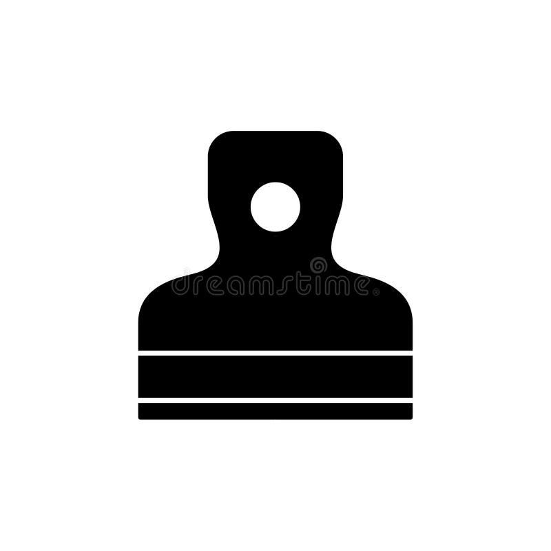 Czarna & biała wektorowa ilustracja szpachelka Płaska ikona handtool dla gipsować & rękodzieła pracy Budowa instrument ilustracja wektor