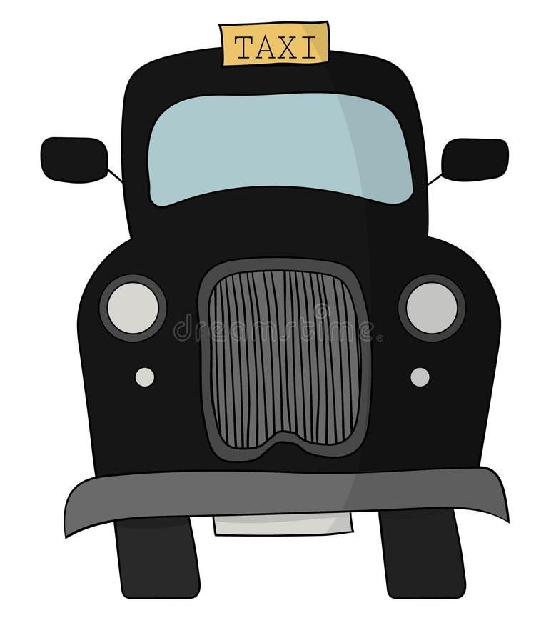 Czarna Brytyjska taxi taksówka ilustracji