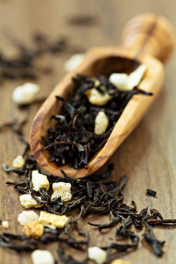 Czarna Ceylon herbata z cytryną obrazy royalty free
