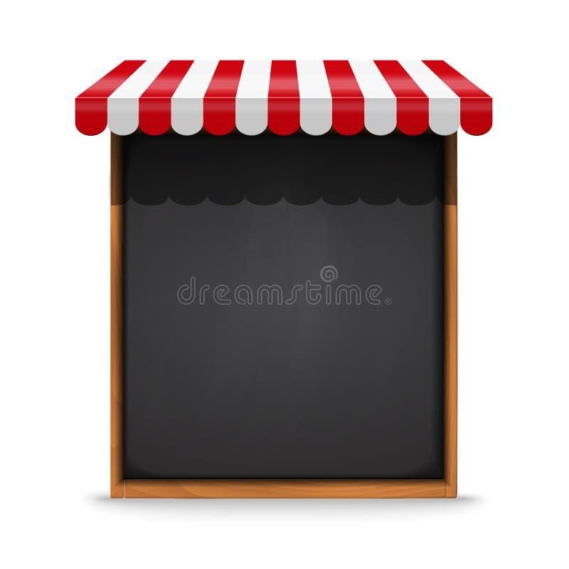 Czarna chalkboard rama z czerwoną markizą ilustracji