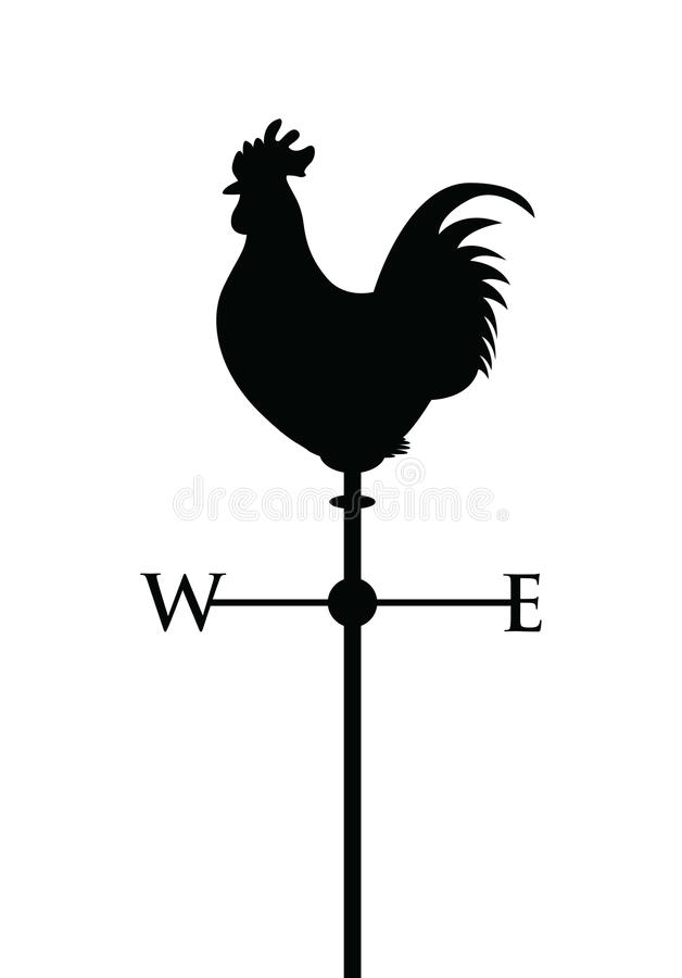 Czarna cockerel sylwetka royalty ilustracja