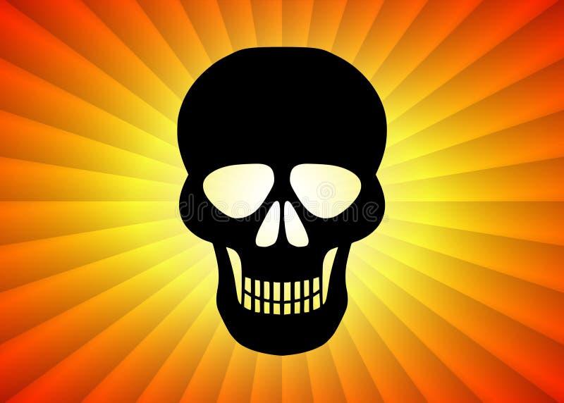 Czarna czaszka ilustracji