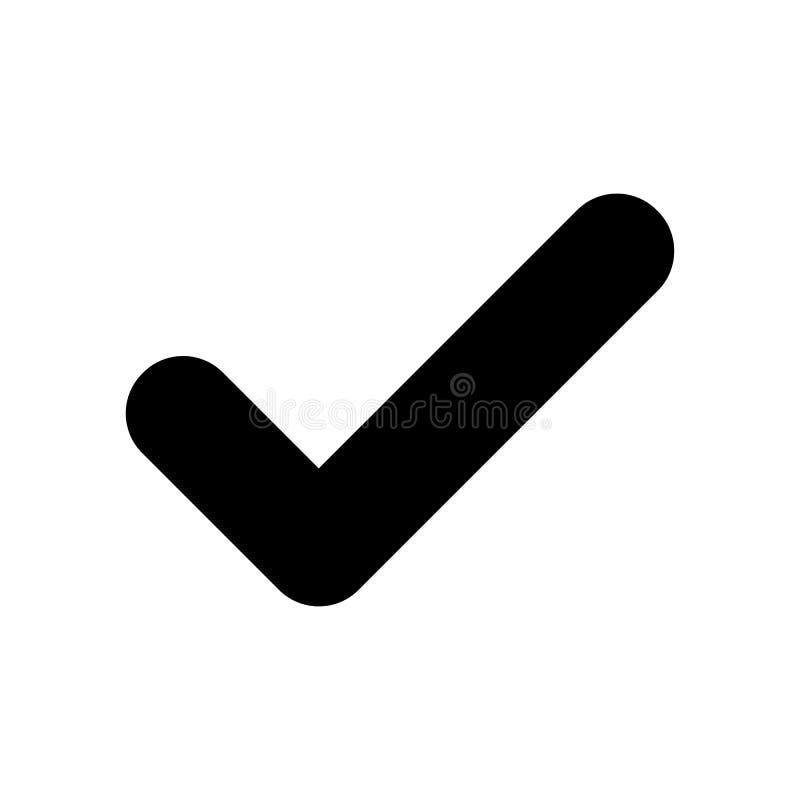 Czarna czek oceny ikona Kleszczowy symbol odizolowywający na białym tle royalty ilustracja