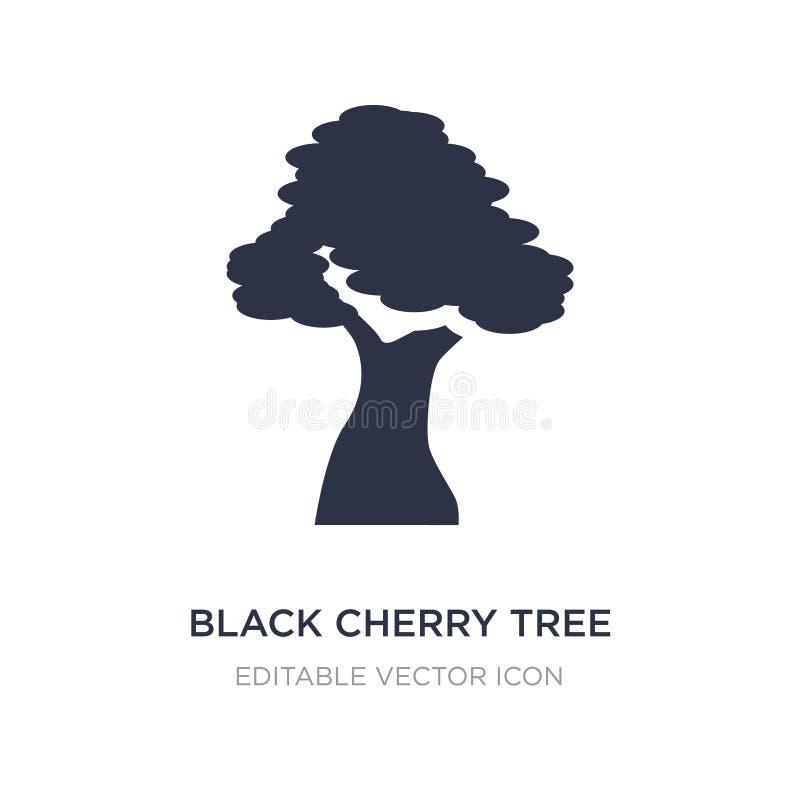 czarna czereśniowego drzewa ikona na białym tle Prosta element ilustracja od natury pojęcia ilustracja wektor
