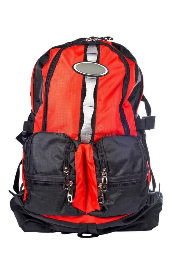 czarna czerwone plecak fotografia royalty free
