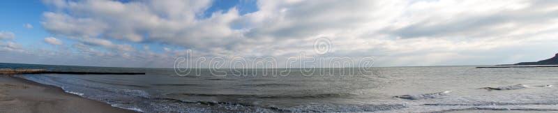 Czarna Denna panorama obrazy stock