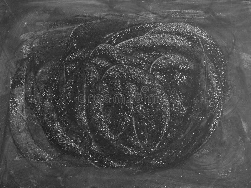 Czarna deska z kredą nacierał out dla tła Abstrakcjonistyczny textu obraz stock