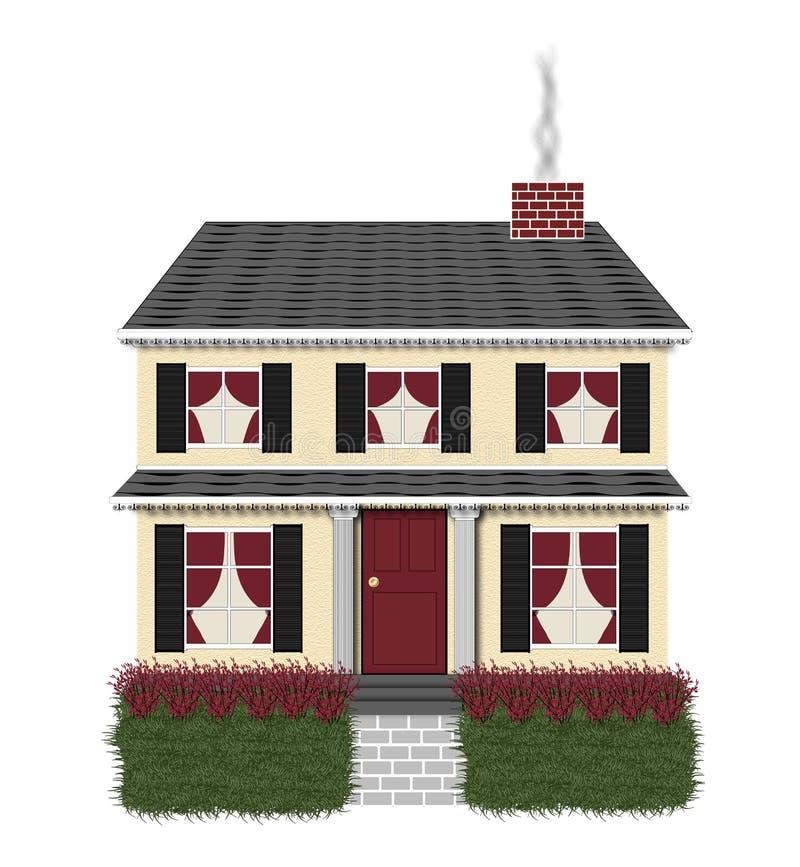 czarna domowa czerwony royalty ilustracja