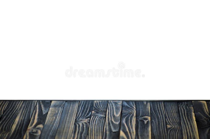 Czarna Drewniana półka lub Stołowy wierzchołek obraz royalty free