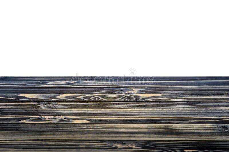 Czarna Drewniana półka lub Stołowy wierzchołek zdjęcia royalty free