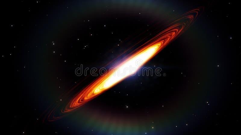 Czarna dziura, astronautyczny wykoślawienie, anomalia, wysoka masa, ten wizerunku elementy meblujący NASA fotografia royalty free