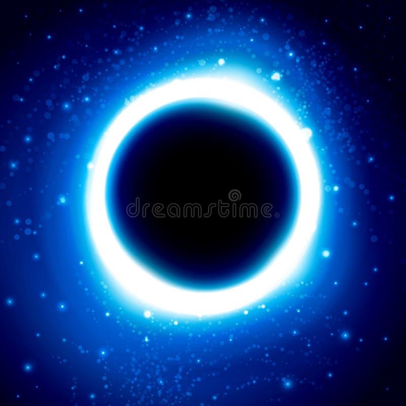 Czarna dziura w kosmosie odległy galaxy ilustracji