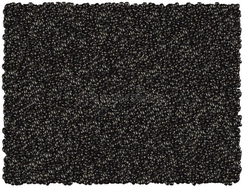 czarna fasoli tło royalty ilustracja