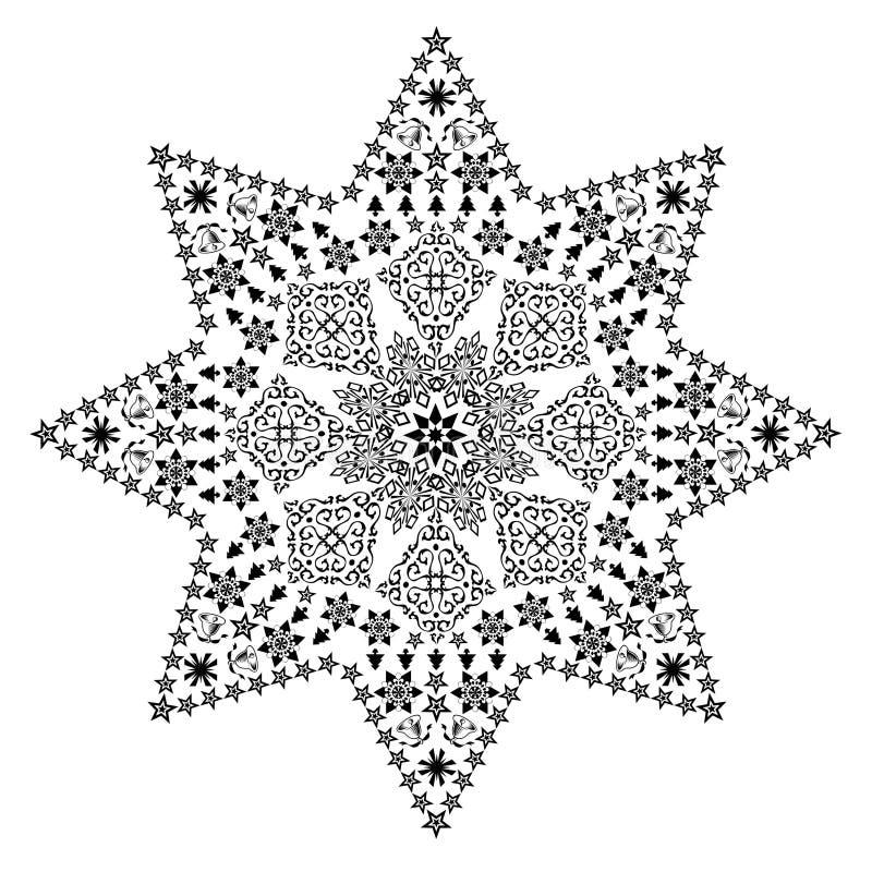 czarna filigree gwiazda royalty ilustracja