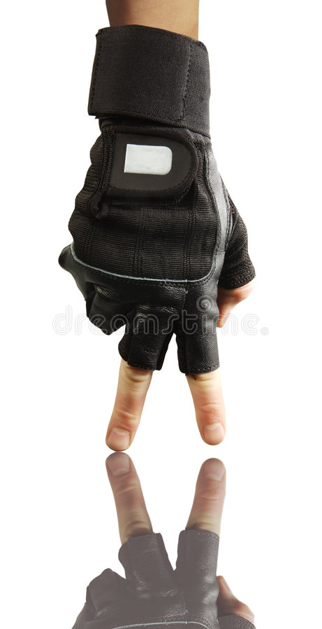 czarna fitness rękawiczka fizycznej zdjęcie stock