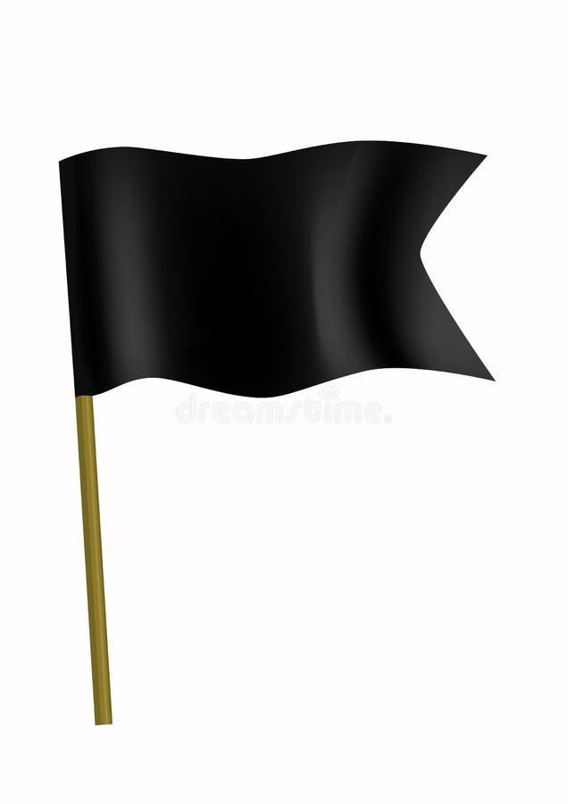 czarna flaga mała royalty ilustracja