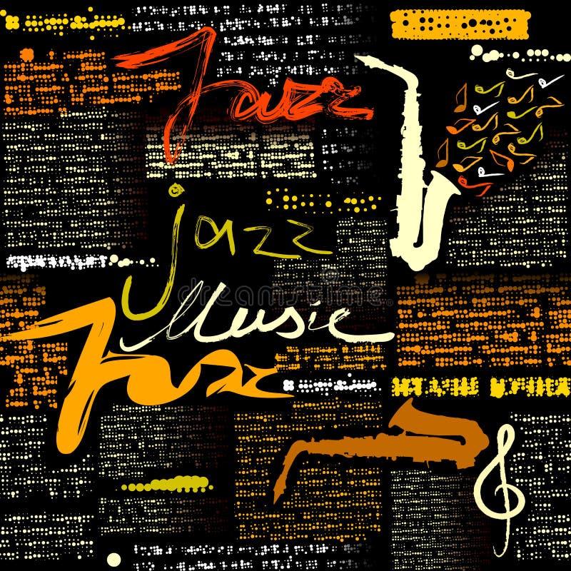 Czarna gazetowa Jazzowa muzyka ilustracja wektor