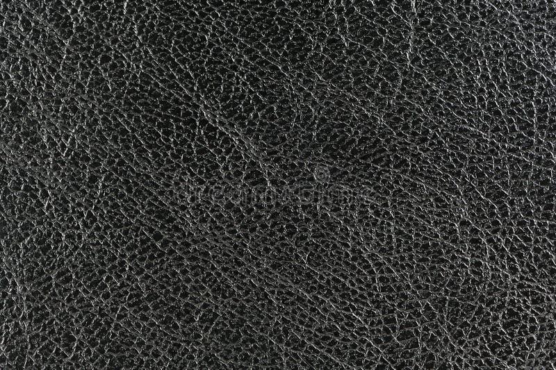 Czarna Glansowana Rzemienna tło tekstura zdjęcie royalty free
