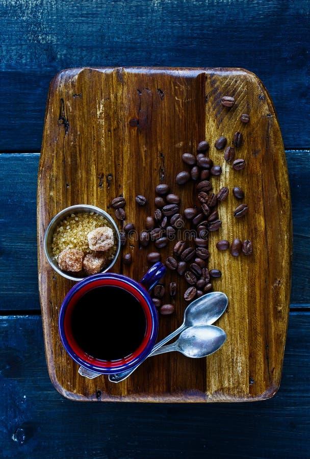 Czarna gorąca kawa zdjęcie stock