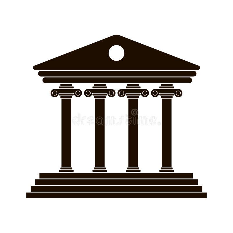 Czarna Grecka kolumnada royalty ilustracja