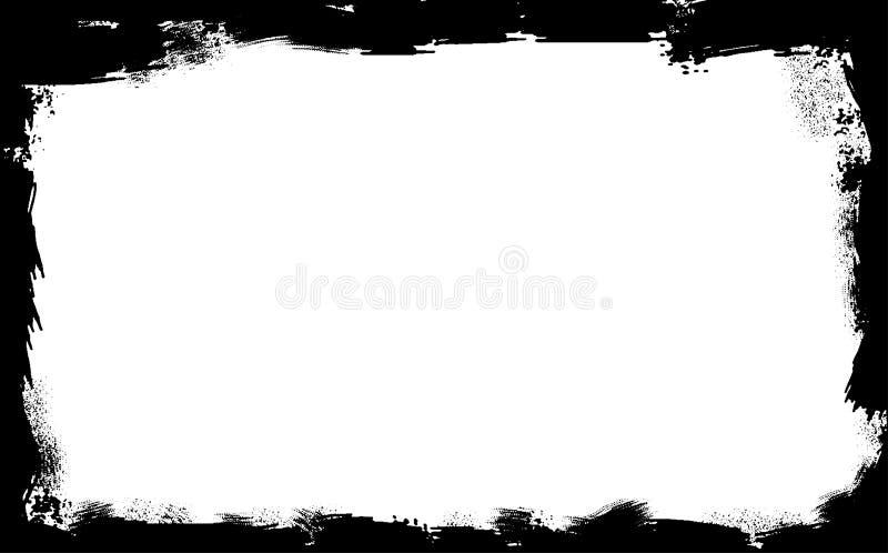 Czarna Grunge Fram granica royalty ilustracja