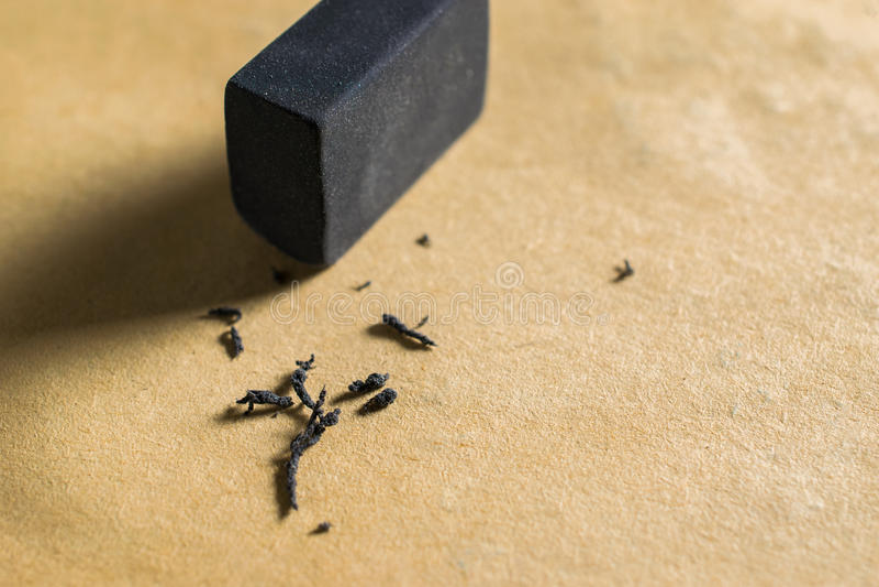czarna guma Eraser4B, Gumowa gumka usuwa pisać błąd obrazy royalty free