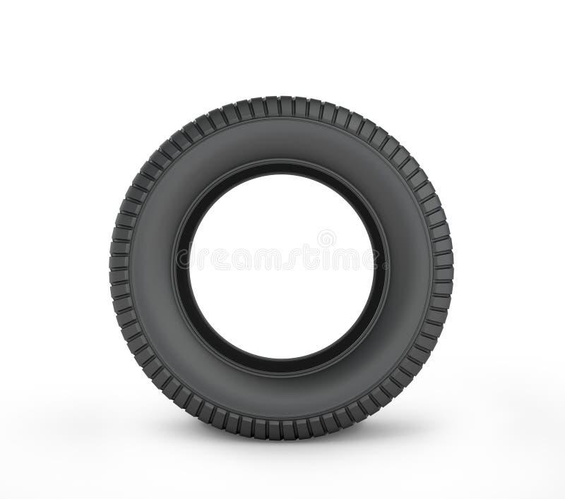 Czarna gumowa samochodowa opona ilustracji