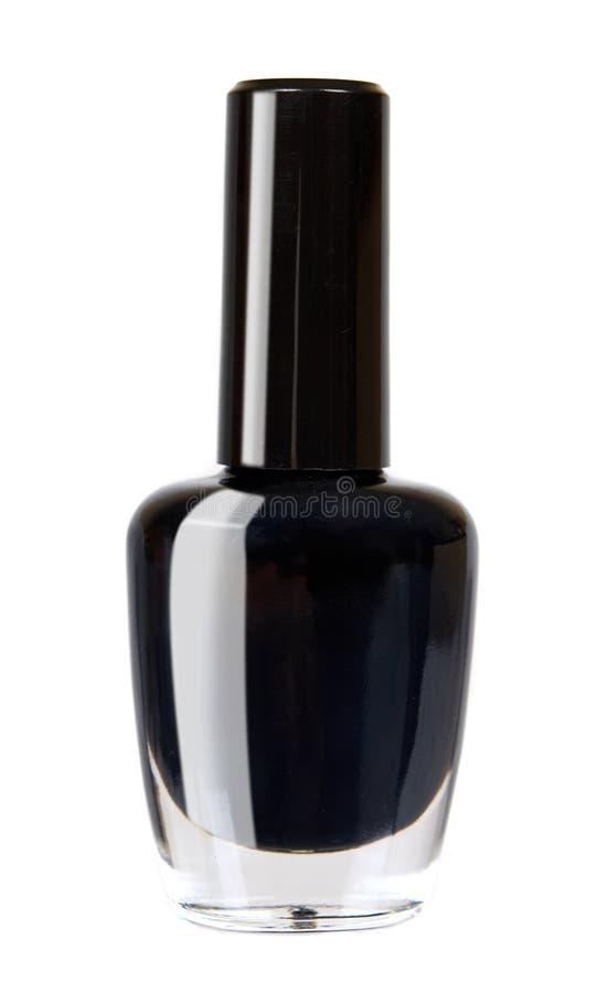 Czarna gwoździa połysku butelka, piękno i opieka, zdjęcia royalty free