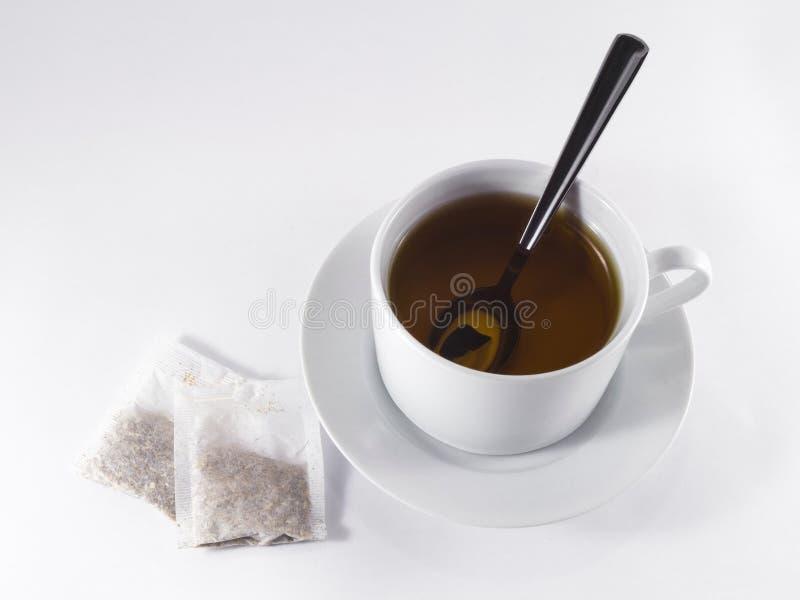 Czarna herbaciana filiżanka obraz royalty free