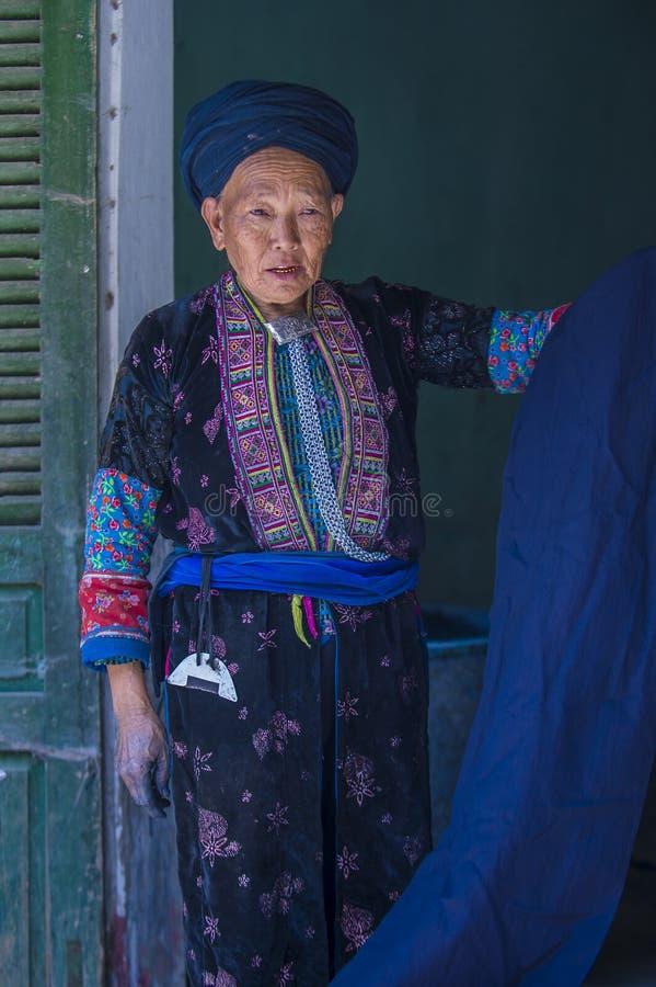 Czarna Hmong mniejszo?? etniczna w Wietnam zdjęcie royalty free