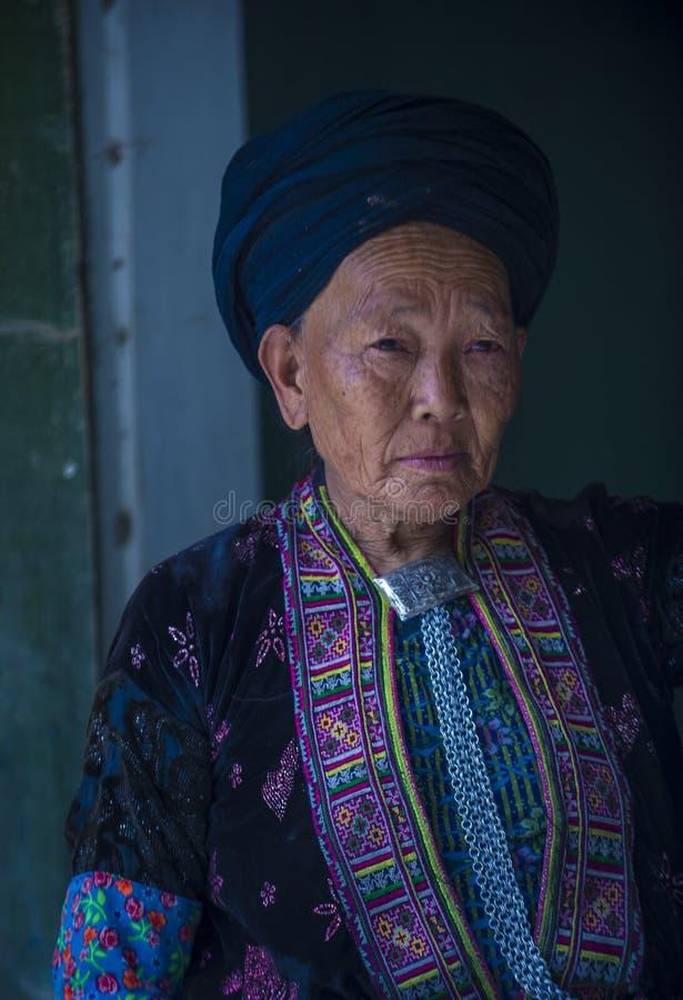 Czarna Hmong mniejszo?? etniczna w Wietnam fotografia stock