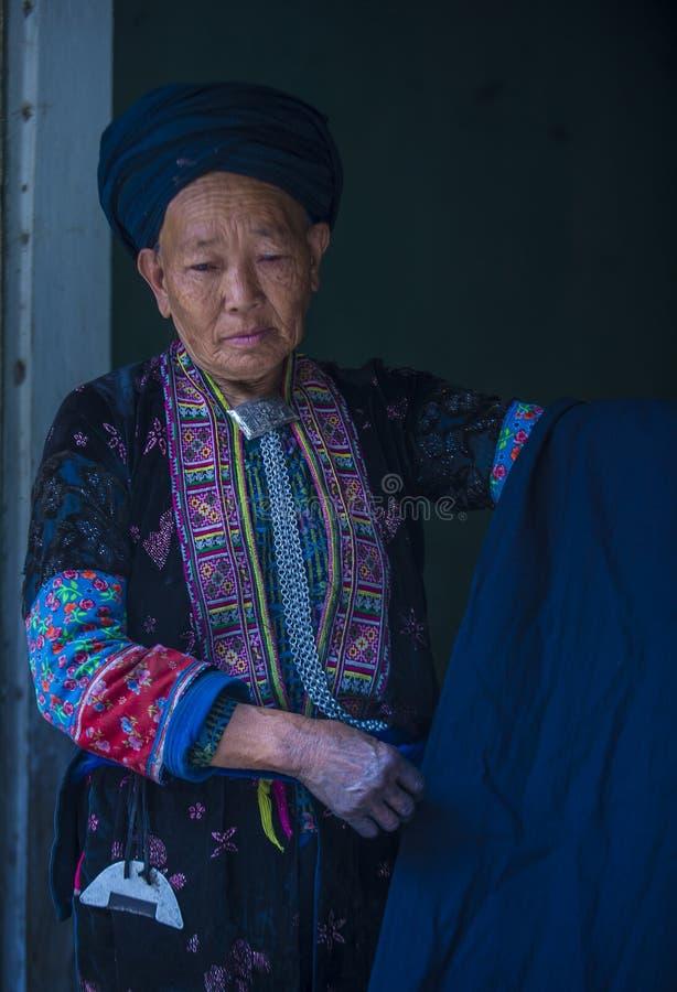 Czarna Hmong mniejszo?? etniczna w Wietnam obraz stock