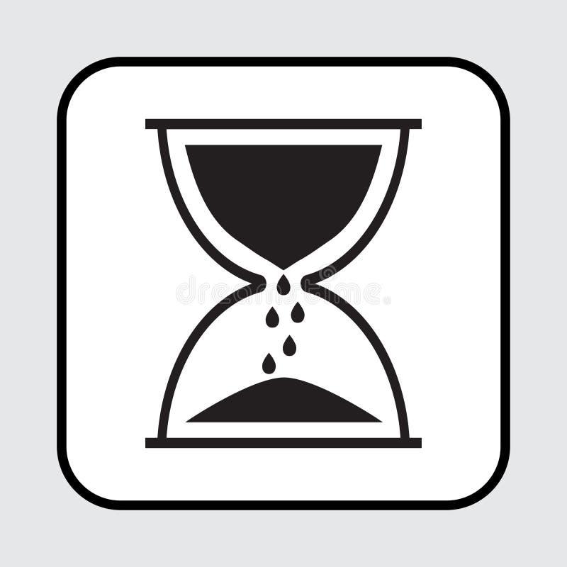 Czarna hourglass ikona również zwrócić corel ilustracji wektora ilustracja wektor