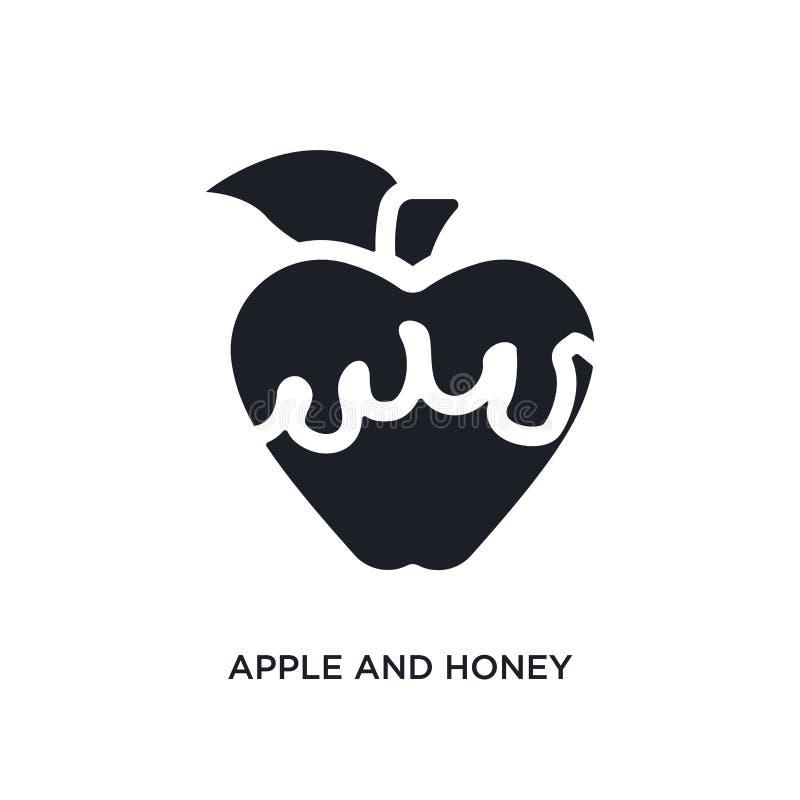 czarna jabłka i miodu odosobniona wektorowa ikona prosta element ilustracja od religii poj?cia wektoru ikon Apple i mi?d ilustracji