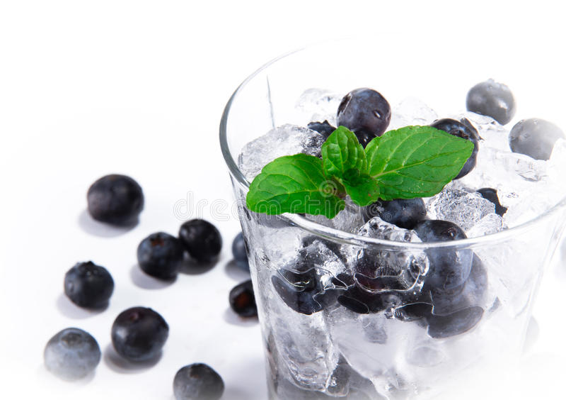 czarna jagoda napój zdjęcie royalty free