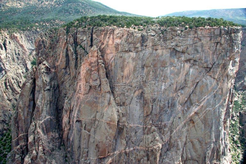 czarna kanion cliff zdjęcie stock