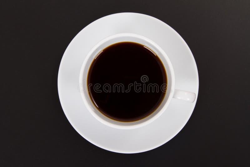 Czarna kawa w Białej filiżance zdjęcia royalty free