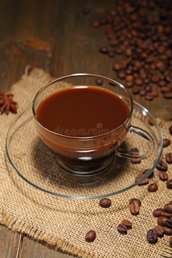 Czarna kawa w szkle zdjęcia royalty free