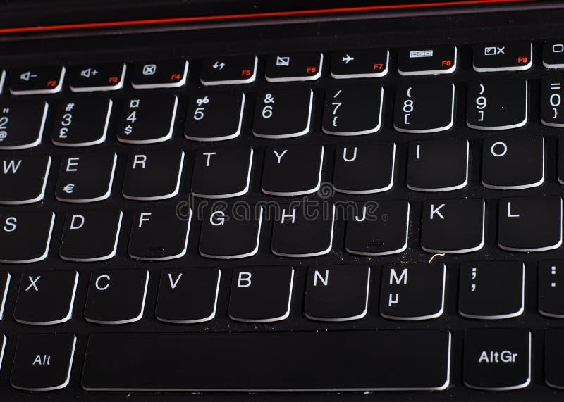 Czarna klawiatura zdjęcie stock