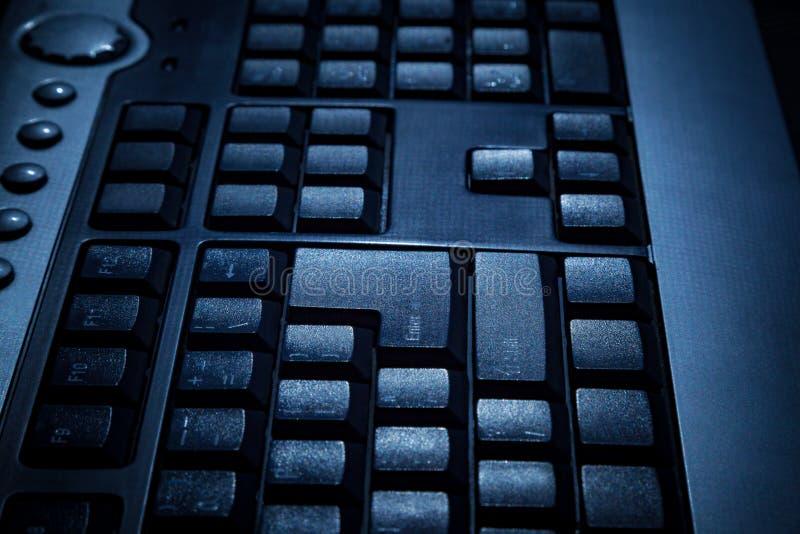 Czarna klawiatura osobisty komputer stacjonarny z selekcyjnym foc obrazy royalty free