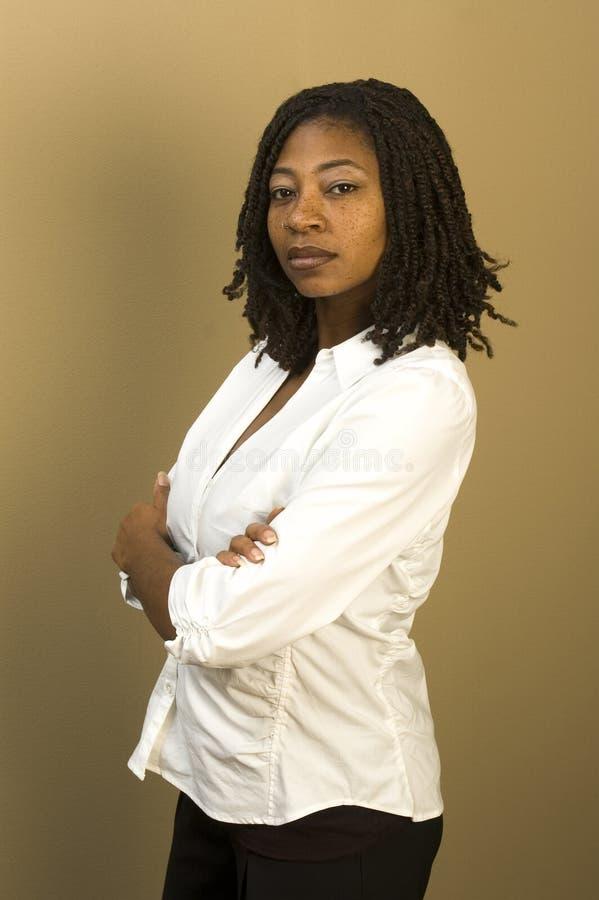 czarna kobieta biurowych zdjęcia royalty free
