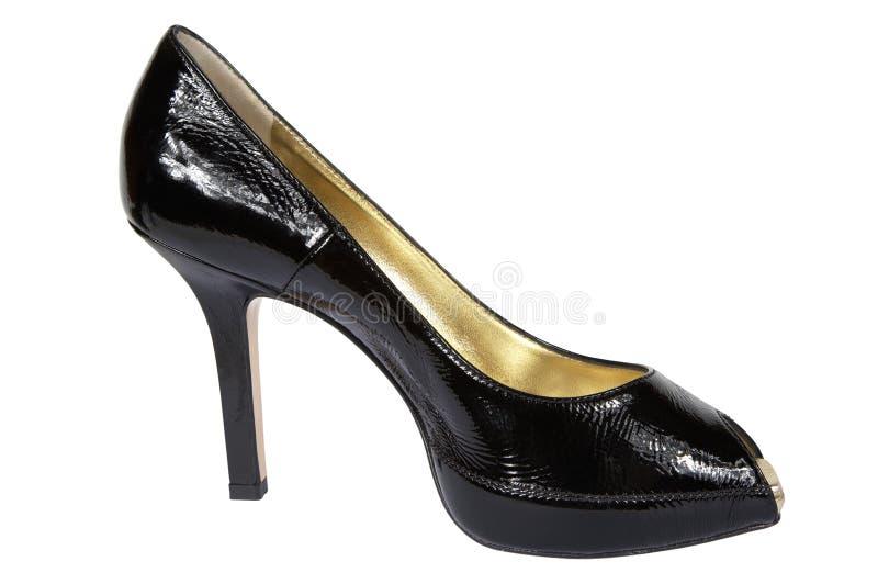 czarna kobieta buty obraz royalty free